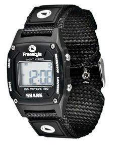 Freestyle Women's 778011 Shark Classic Black Nylon Strap Watch Freestyle. $31.21. Save 31% Off!