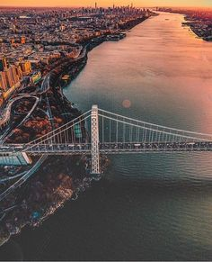 George Washington Bridge, Hudson River, New York to New Jersey Oh The Places You'll Go, Places To Travel, Places To Visit, George Washington Bridge, To Infinity And Beyond, City Photography, Travel Goals, New York City, Travel Inspiration