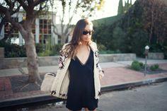 Isabel Marant pour H&M kids jacket, reformation slip dress