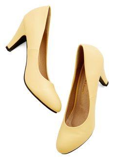 In a Classic of Its Own Heel in Yellow, @ModCloth-$35