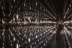 pass through the 3D matrix of serge schoemaker   digiluce's alley of light - designboom   architecture