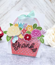 Bloomin' Cute Floral Baskets » Paper Suite Shaped Cards, Color Effect, Black Paper, New Leaf, Gift Packaging, Unique Colors, Floral Arrangements, Create Your Own, Gift Wrapping