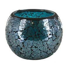 Turquoise Mosaic Glass Roly Poly Votive Candle Holder | Hobby Lobby | 626747