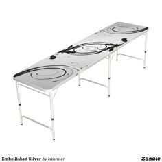 Embellished Silver Beer Pong Table