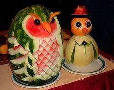 sandias talladas  #funfood #comidadivertida #arecetas #funny #art #arte