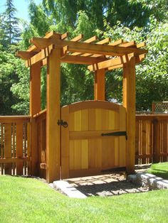 Fence/Arbor/Gate (for side yard, grow climbing roses or clematis)