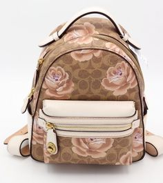 d4ce3ffdedb9 NWT Coach Campus Backpack 23 Signature Rose Print New 30954  350  Coach  Backpack  Coach