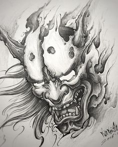 #hannya #hannyatattoo #hannyamask #hannyadesign #blackgreytattoo