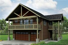 This lovely Craftsman garage with Garage influences (Garage House Plan #108-1784) has a 3-car garage and 1792 square feet of living space . The 2 story floor plan includes 1 bedrooms.
