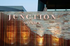 Logotype as signage for bar and restaurant Junction Moama designed by Seesaw