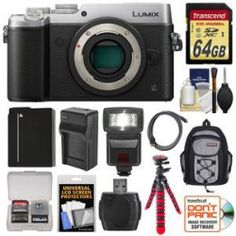 A Guide to Choosing Panasonic Lumix DMC-GX8 4K Wi-Fi Digital Camera Body (Silver) with 64GB Card + Battery + Charger + Backpack + Flex Tripod + Flash + Kit