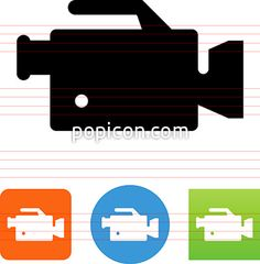 Camcorder Icon - Illustration from Popicon
