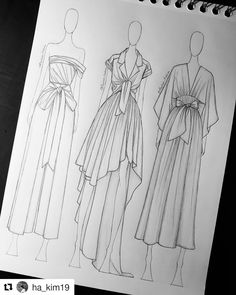 This image can be: Drawing Dress Design Drawing, Dress Design Sketches, Fashion Design Sketchbook, Dress Drawing, Fashion Design Drawings, Drawing Drawing, Drawing Faces, Dress Designs, Drawing Tips