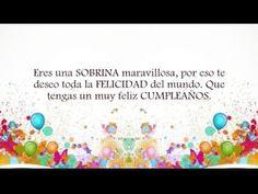 Tarjeta de cumpleaños virtual para mi sobrina - YouTube