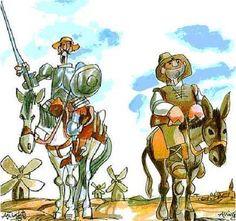 Don Quijote. Dibujado por Mingote