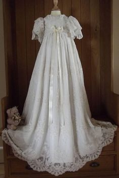538000badcc Heirloom Lace Christening gown Royal lace Christening gown Baptism Outfit