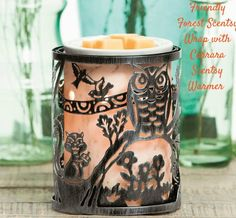 Friendly Forest wrap with the Carrara Scentsy Warmer.