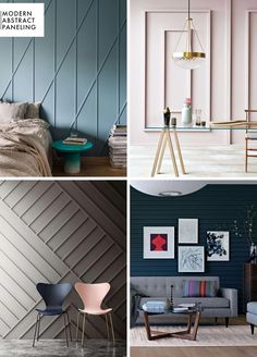 How to Add Character to Basic Architecture: Wall Paneling (Emily Henderson) - Me. How to Add Character to Basic Architecture: Wall Paneling (Emily Henderson) - Melanie Perez - Modern Wall Paneling, Paneling Ideas, Paneling Walls, Wall Panelling, Trim On Walls, Wood On Walls, Wood Accent Walls, Wall Cladding, Cool Walls