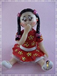 Menina Caipira em biscuit