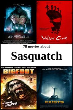 """The top movies to watch related to sasquatch are """"Abominable"""", """"Willow Creek"""", """"Bigfoot"""", """"Exists"""" and """"Love In The Time Of Monsters"""". See our full list of 107 movies. Top Movies To Watch, Good Movies, Bigfoot Sightings, Mystery Science, Fantasy Comics, Rock Music, Thriller, Science Fiction, Documentaries"""