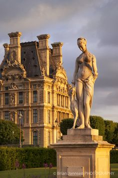 Statue in Jardin Des Tuileries with Musee Du Louvre Beyond, Paris, France-Brian Jannsen-Photographic Print Paris France, Oh Paris, I Love Paris, Paris City, Places To Travel, Places To Go, Parks, Jardin Des Tuileries, Louvre Paris