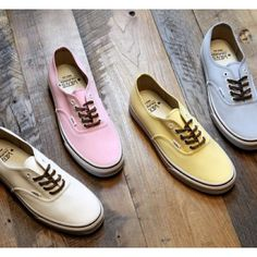 Pastel Vans! Bailey would love these!