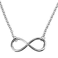 chapado en plata shixin® collar infinito para las mujeres niñas  – EUR € 0.97