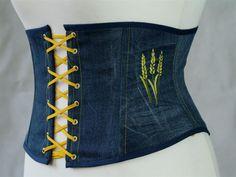 Korsetts & Corsagen - Miedergürtel Jeans Korsage Taillenkorsett Gr.38/40…