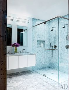 Planning a bathroom remodel? We round up exquisite showers from the pages of AD