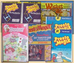 Presto Magix rub-on transfer kits - Stacy remember begging for  these when we went grocery shopping - my favorite was Scooby Doo