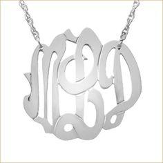 Fine Monogram Jewelry - Gold, Diamond & Silver Monogram Jewelry