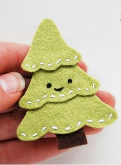 The Christmas season is finally here and it's time to add a touch of the holiday to everyday. This Felt Christmas Tree Pin is a subtle reminder that it's t