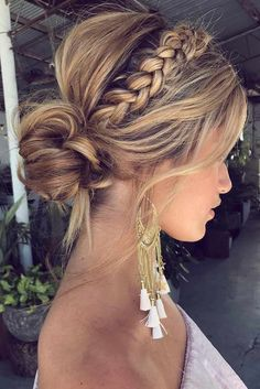 50 Fabulous Braided Updo Hairstyle Women Ideas - Up hairstyles - Frisuren Easy Summer Hairstyles, Braided Hairstyles, Wedding Hairstyles, Braided Updo, Trendy Hairstyles, Fishtail Braids, Everyday Hairstyles, Homecoming Updo Hairstyles, Updos With Braids