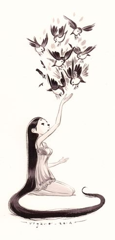 I really love this drawing. This would look cool embedded in a tattoo sleeve, or even just by itself. Maybe on the front or back of shoulder? Thigh?