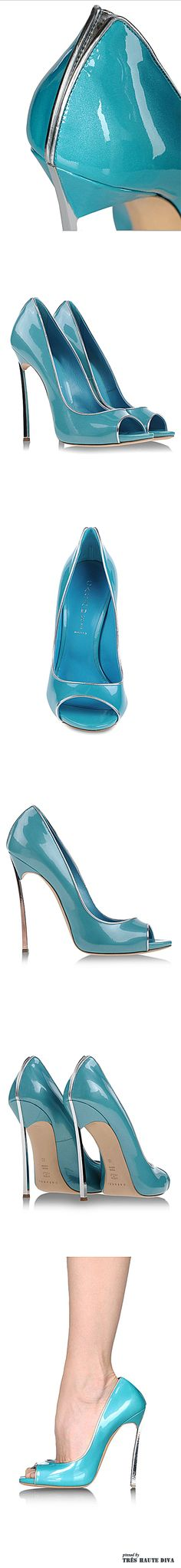 Casadei ♥ Turquoise Blue Glossy Color, reminds me of my first car  '57 Chevrolet, Bellaire! Fun, Sweet & Sexy! The Back Zipper on these Heels is a nice added sexy touch! ♥ These would be great paired with a Modern / Retro Pin Up Outfit! ♥