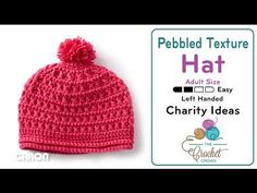 Crochet Pebbled Texture Adult Size Hat + Tutorial - The Crochet Crowd® Crochet Toddler Hat, Crochet Crowd, Crochet Beanie, Crochet For Kids, Easy Crochet, Free Crochet, Knitted Hats, Baby Knitting Patterns, Crochet Patterns