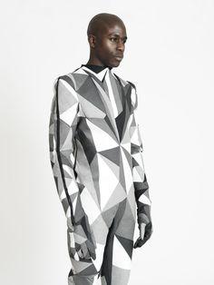 Ichiro Suzuki Faceted suit, monochrome, men fashion