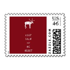Keep Calm and Be Merry Stamp