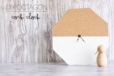 DIY Octagon Cork Clock