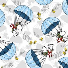 Snoopy Parachute Fabric- Peanuts