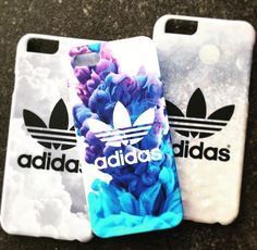 black and white adidas phone case, with a purple and blueish one Cute Phone Cases, Iphone Phone Cases, Iphone 8, Iphone 32gb, Coque Iphone 5s, Floral Iphone Case, Accessoires Iphone, Cute Cases, Diy Phone Case