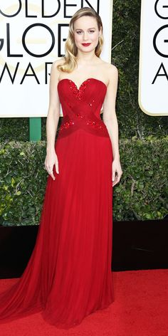 Brie Larson - All the Glamorous Looks from the 2017 Golden Globes Red Carpet - Brie Larson from InStyle.com