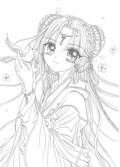me encanta Fall Coloring Pages, Animal Coloring Pages, Adult Coloring Pages, Coloring Books, Anime Lineart, Anime Chibi, Anime Art, Cute Drawlings, Manga Drawing