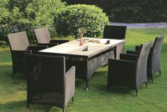 VF-6002 rattan chairs & rattan table set