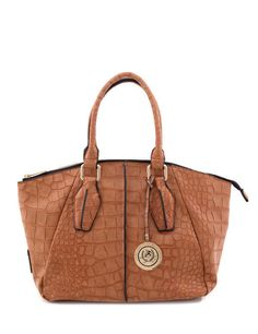 491bb97ed0e5 U.s. polo assn. women s croco dome satchel cognac handbags