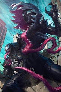 Venom Comics, Marvel Dc Comics, Marvel Heroes, Marvel Characters, Marvel Venom, Fictional Characters, Super Hero Couples, Venom Girl, Symbiotes Marvel