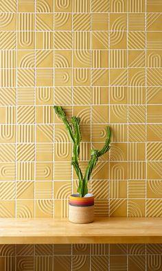 CERAMIC DESIGN Signal Tile Collection 2018 Gray Award Winner Signal Tile is a collection of dimensional geometric tile designed to capture. Geometric Patterns, Geometric Tiles, Tile Patterns, Ceramic Design, Tile Design, Dimensional Shapes, Decorative Tile, Bud Vases, Crate And Barrel