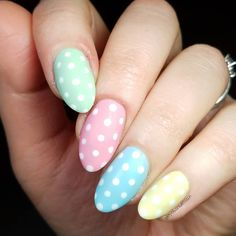 "Alison 🌻 on Instagram: ""Going through my camera reel and found the mattified version of my Spring Pastel dotties. 😍 All base colors from @chinaglazeofficial Spring…"" Easter Nails, My Spring, Spring Nails, Pastel, Colors, Beauty, Instagram, Pie, Cosmetology"