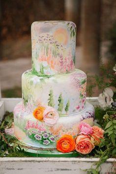 photo: Claire Marika Photography and Alyssa Vincent Photography via Hey Wedding Lady; Beautiful wedding cake ideas