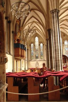 The Temple Church, London, built by the Knights Templar- Left isle